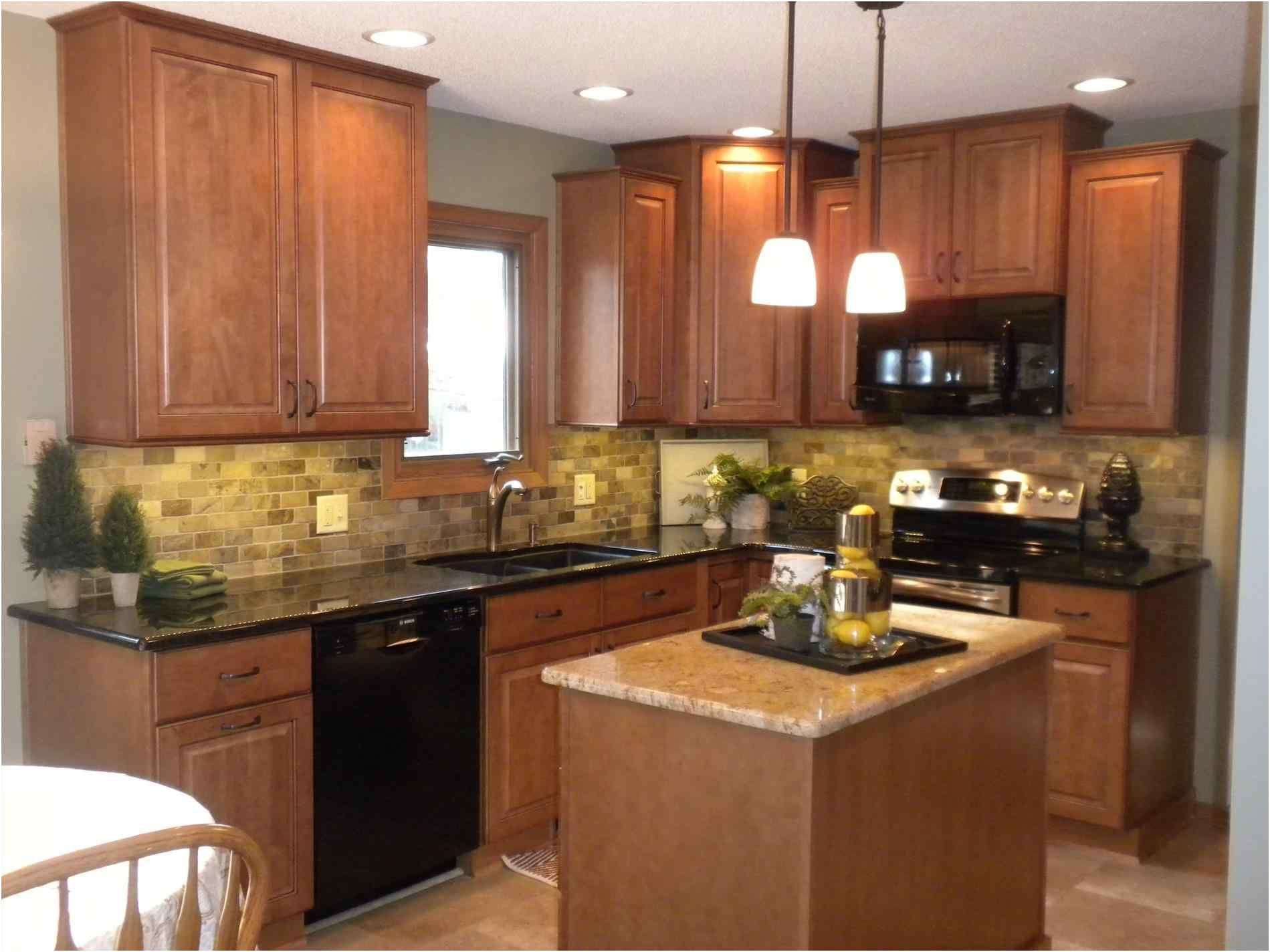 Kitchens With Oak Cabinets And Black Appliances