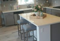 Kitchens With Grey Cabinets And Wood Floors