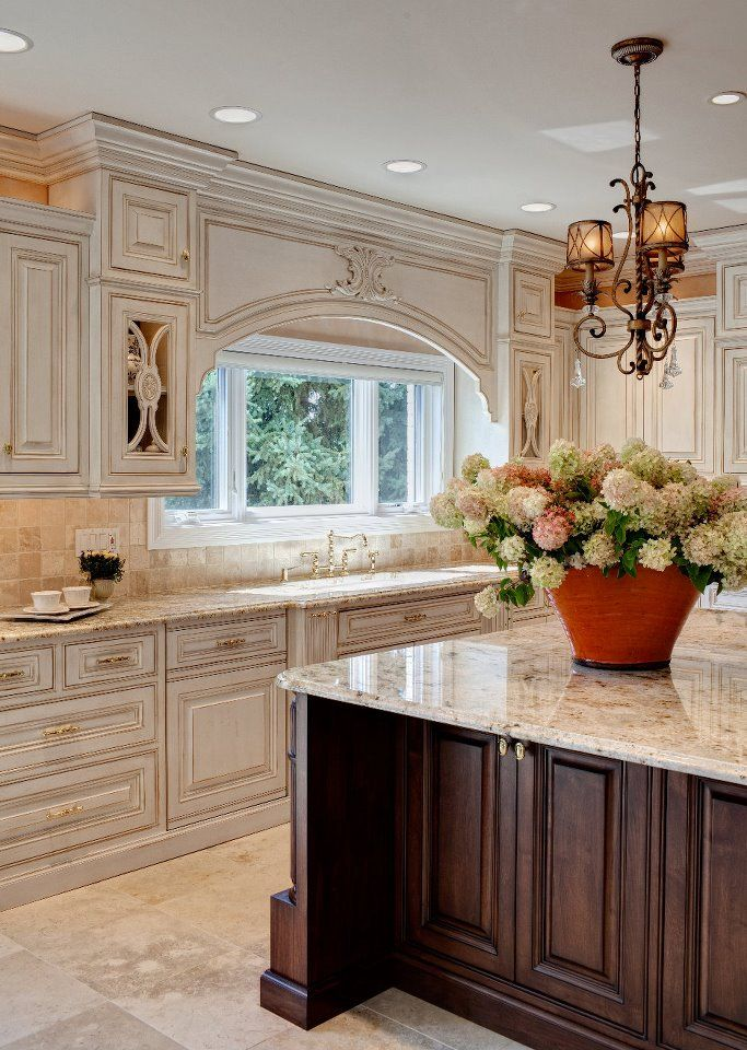 Kitchen Cabinets In Antique White