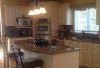 White Kitchen Islands With Granite Tops