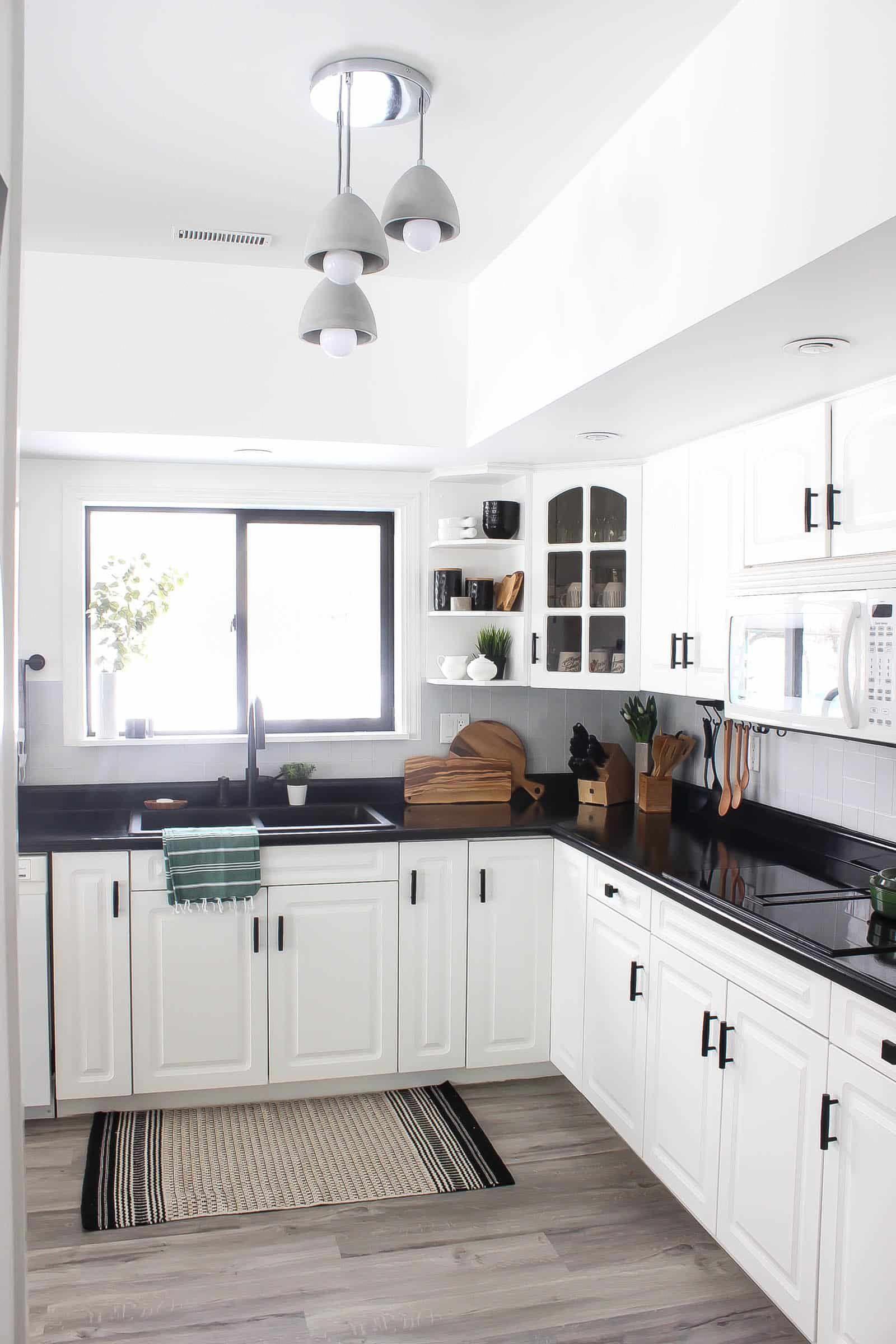 White Kitchen With Matte Black Hardware