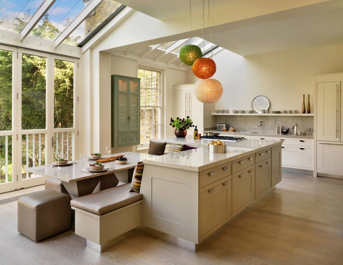 White Kitchens With Island Bench