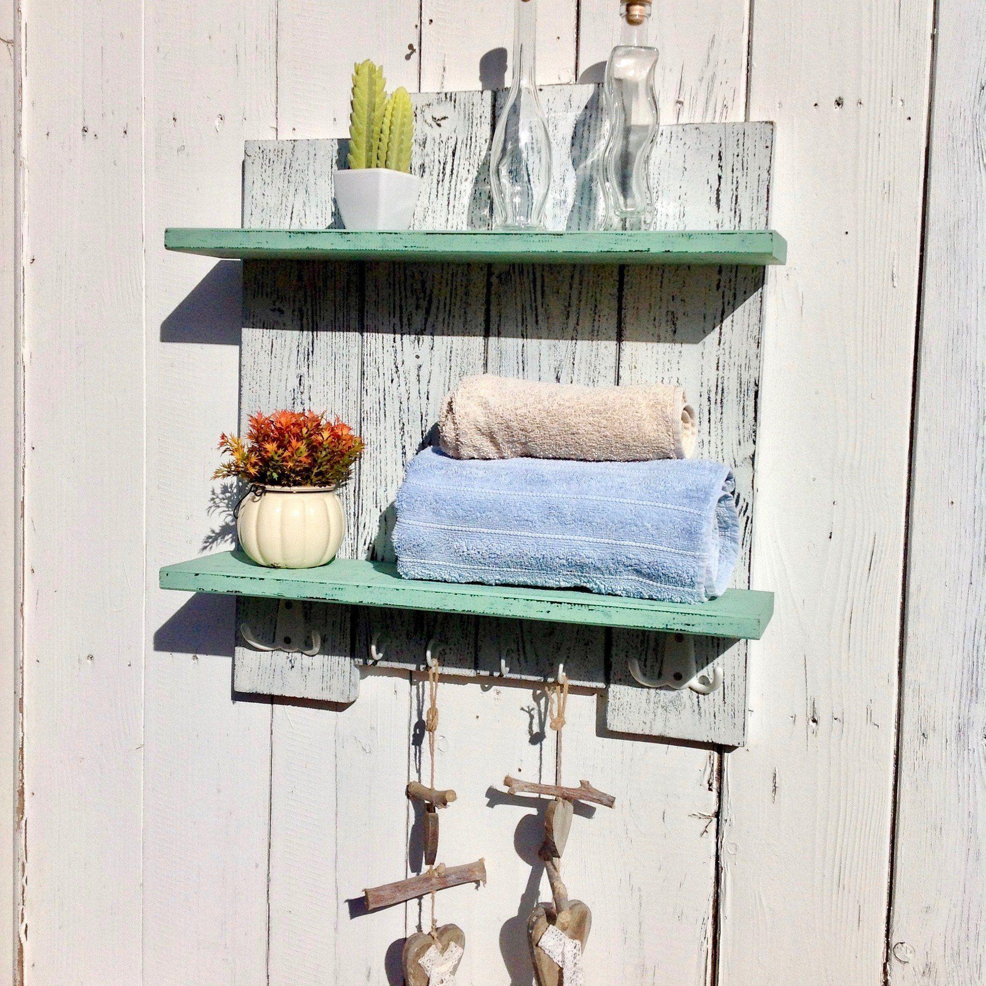 White Kitchen Shelf With Hooks