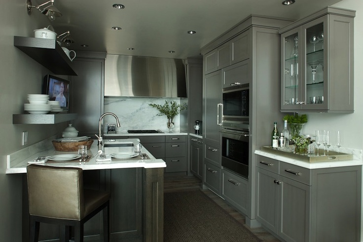 Kitchens With Gray Cabinets Images