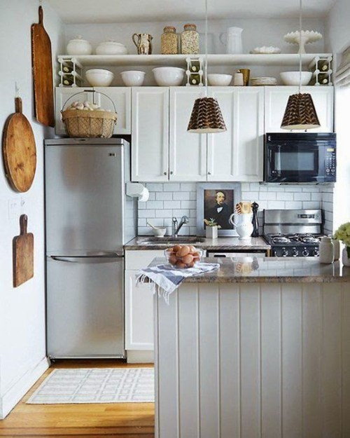 A small kitchen with a big modern farmhouse vibe