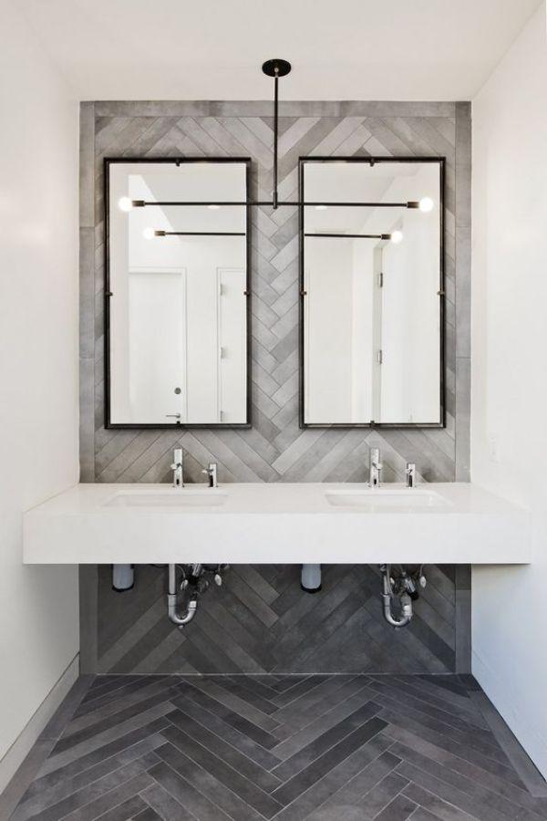 How To Create A Greyscale Bathroom: 15 Awesome Tile Ideas For Your Bathroom