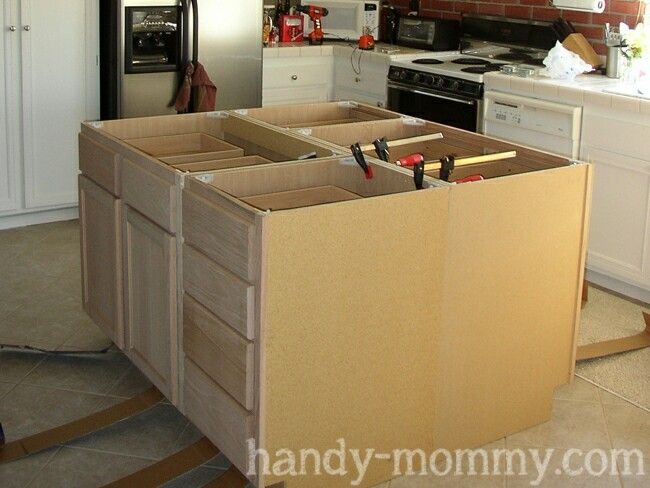 diy kitchen island on wheels bar supports best decor hacks : build your own ...
