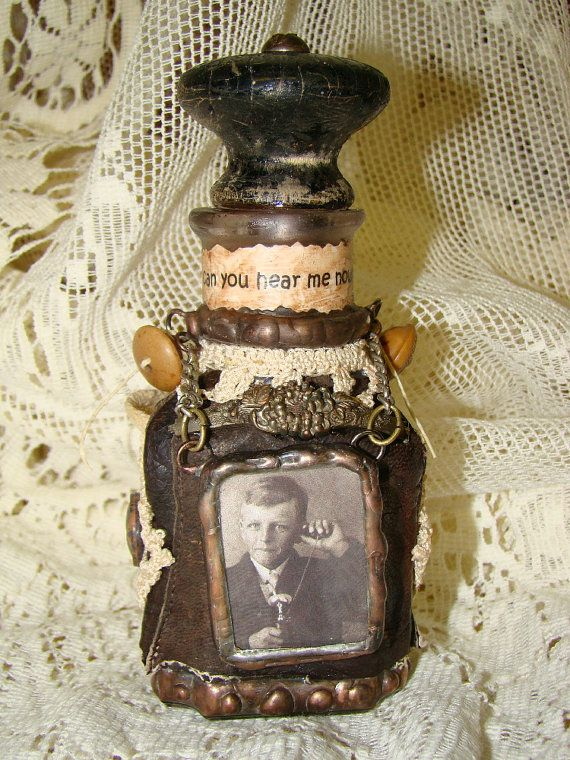 Decorative Bottles  altered bottle  Decor Object  Your