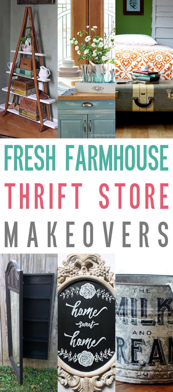 Best Decor Hacks Fresh Farmhouse Thrift Store Makeovers