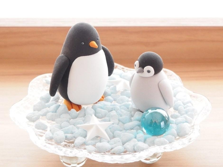子供粘土教室 親子ペンギン