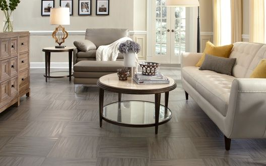 Adura Linea luxe vinyl tile, a hip pattern inspired by home fashion linens and textile fabrics