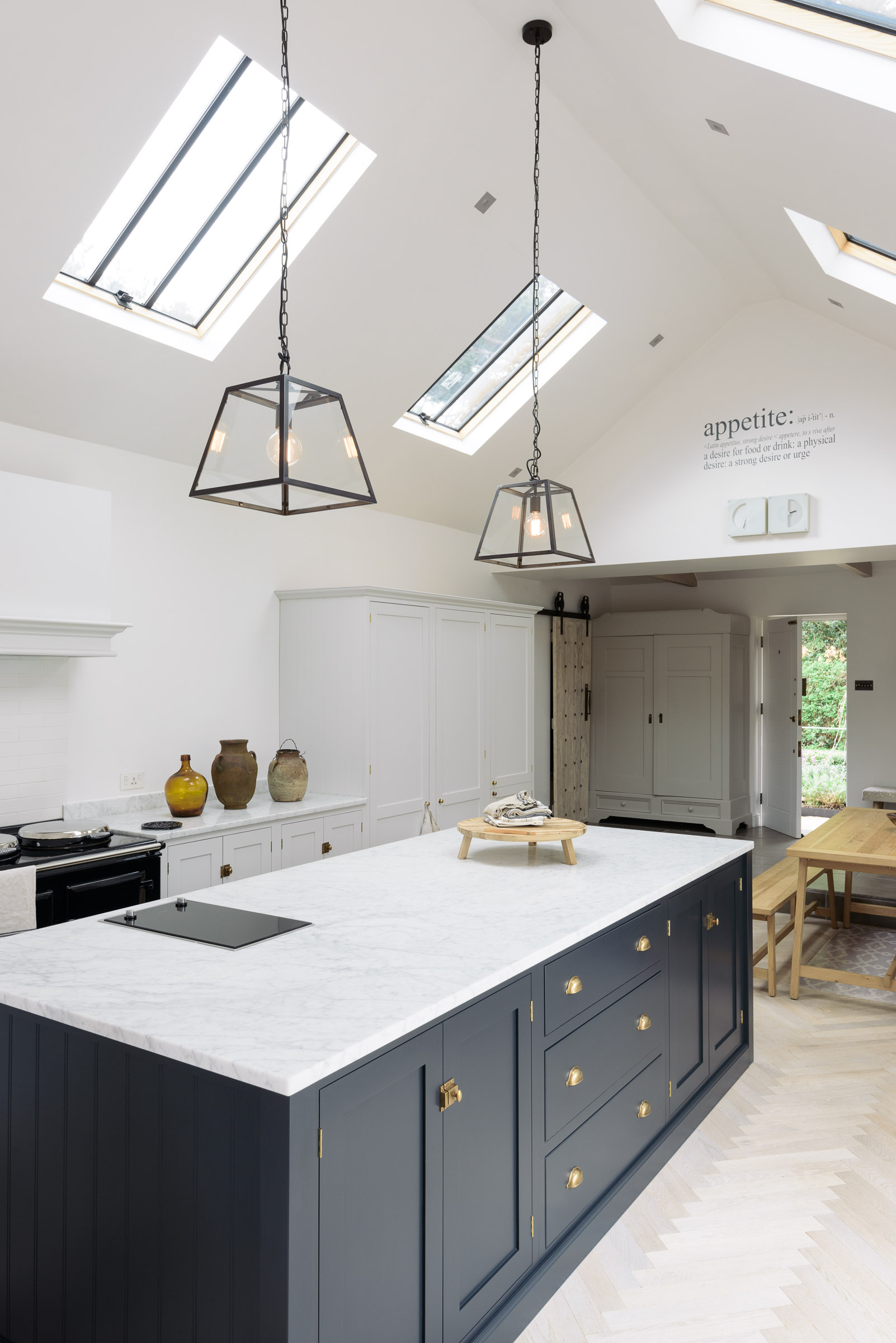 Modern kitchen A modern spin on Shaker style in this