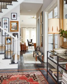 Long Narrow Living Rooms with Stairs Ideas