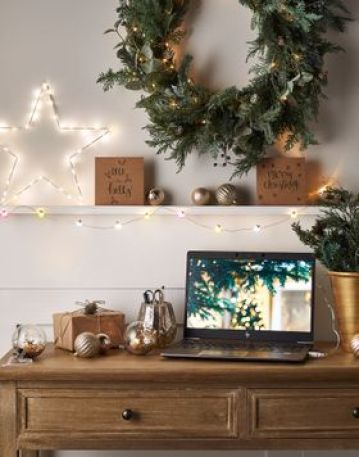 Festive home office