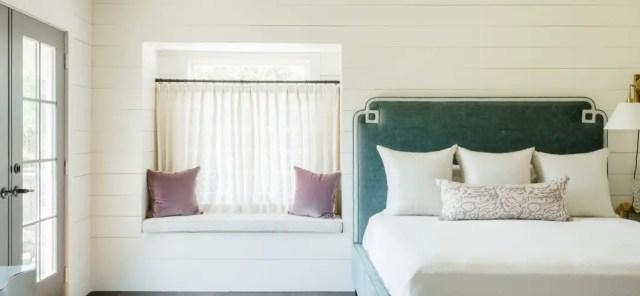 Bedroom with window sofa