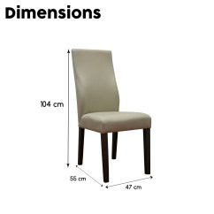 Tan Leather Dining Chairs Melbourne White Modern Chair 2 X New Luxury Air Solid Timber Legs Dakota