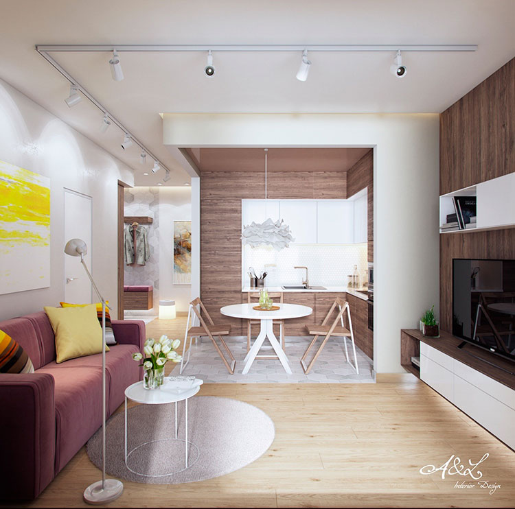 Cucina e soggiorno insieme in più di 25 mq: How To Furnish An Open Space Of 20 30 Sqm Decor Scan The New Way Of Thinking About Your Home And Interior Design