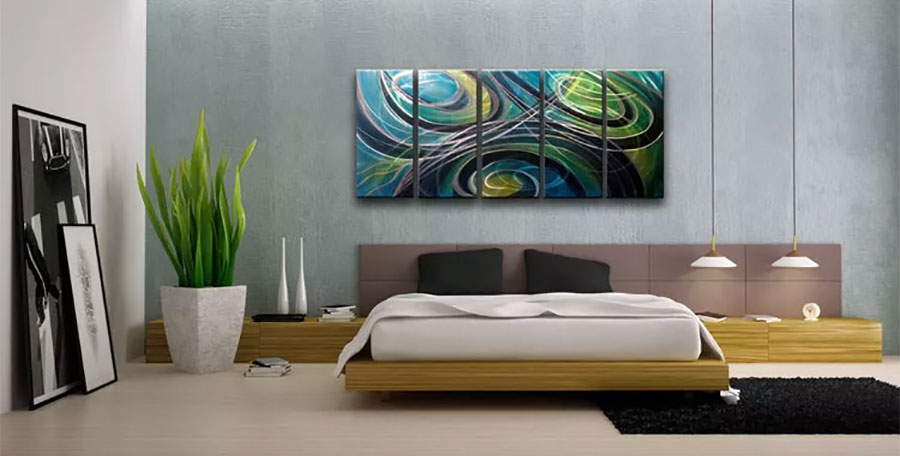 Un bel quadro dorato, come quello. 65 Modern Paintings For The Bedroom Decor Scan The New Way Of Thinking About Your Home And Interior Design