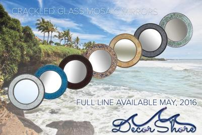 Crackled Glass Mosaic Mirrors