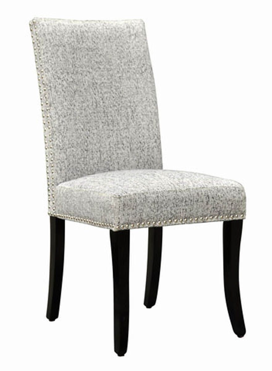 Accent Nail Side Chair  Set Of 2 (light Gray) [lcdesias