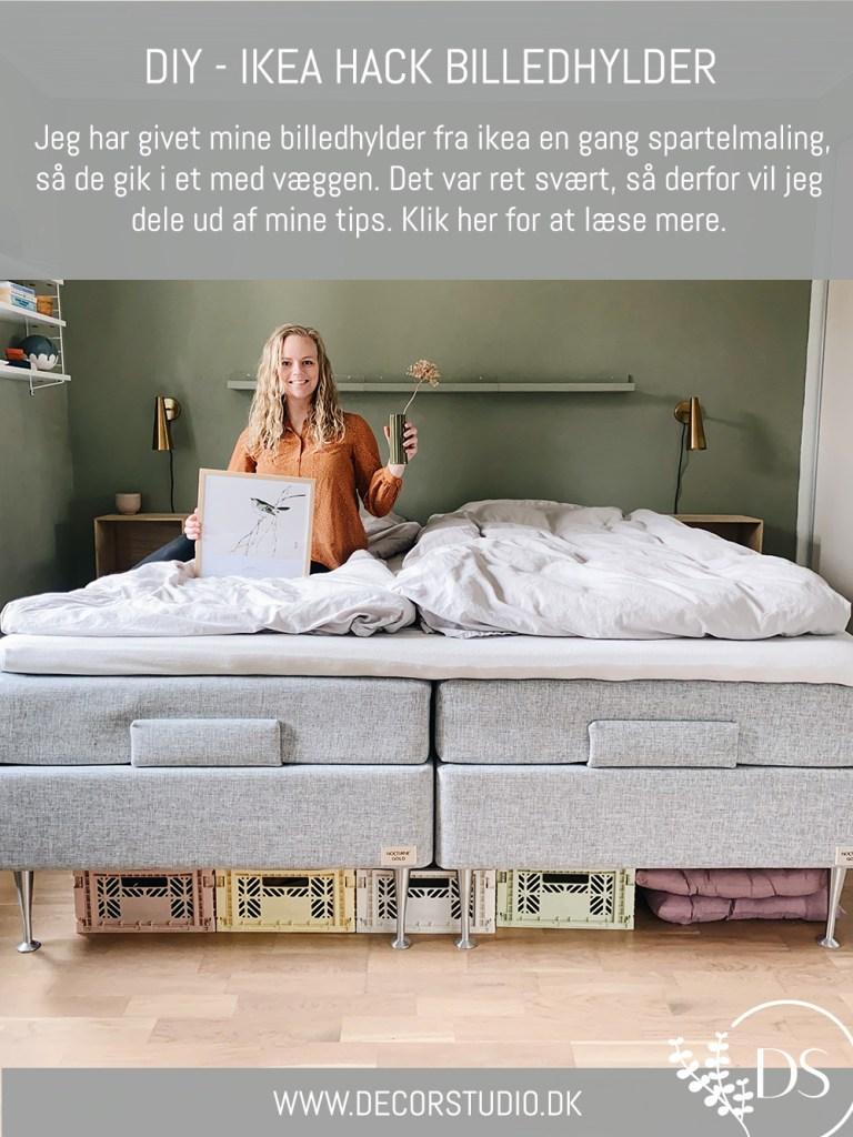Ikea hack billedhylder