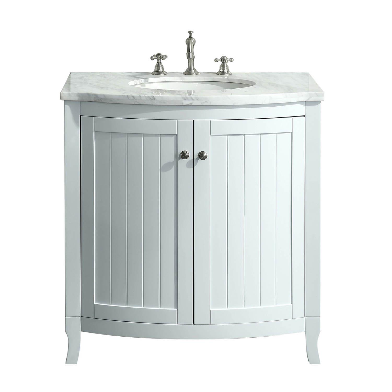 Eviva Odessa Zinx 30 White Bathroom Vanity With White