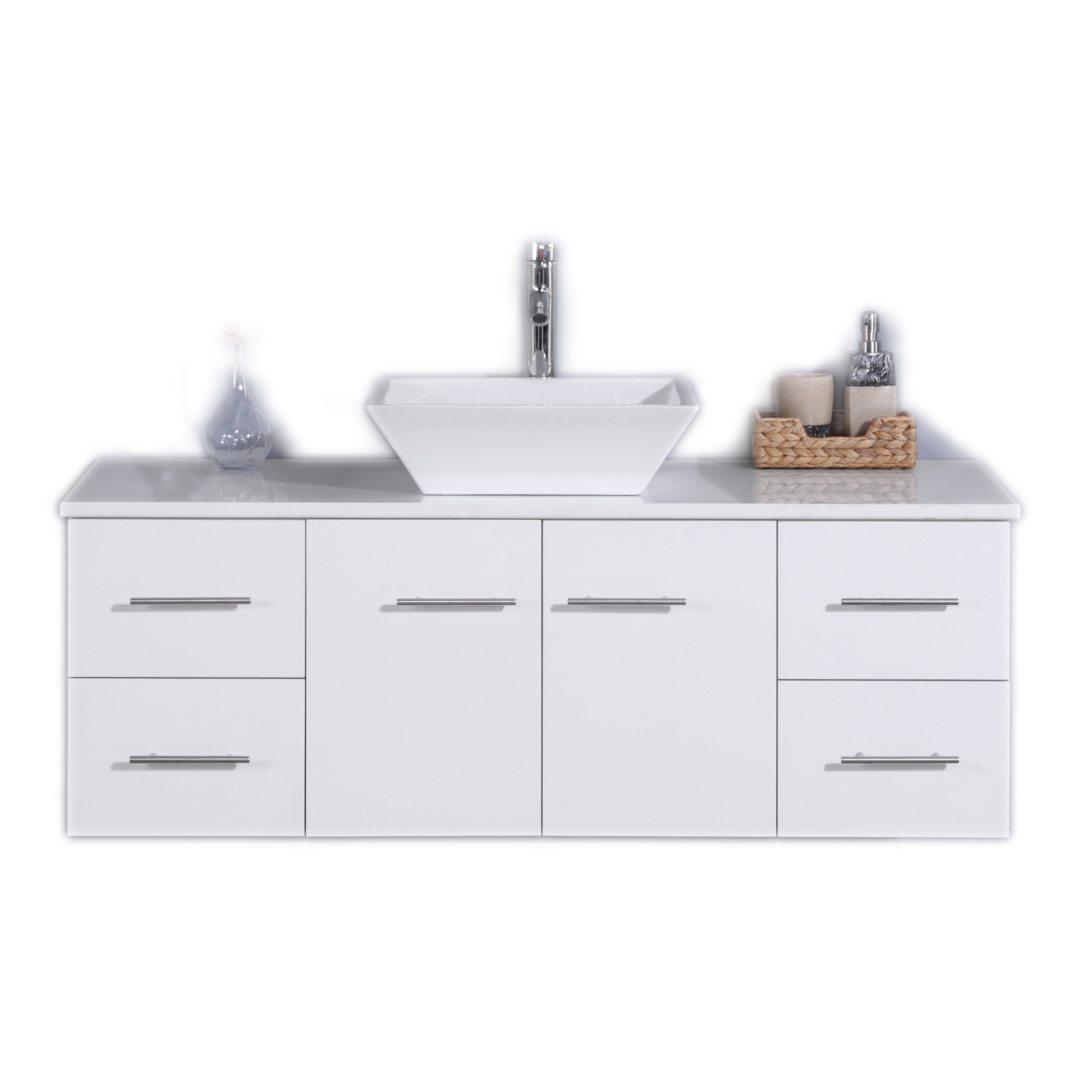 Bathroom Vanity Top With Sink Totti Wave 48 Inch White Modern Bathroom Vanity With Counter Top And Sink