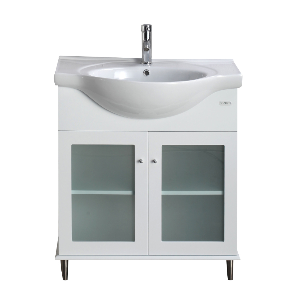 eviva tux 30 white transitional bathroom vanity with white integrated porcelain sink