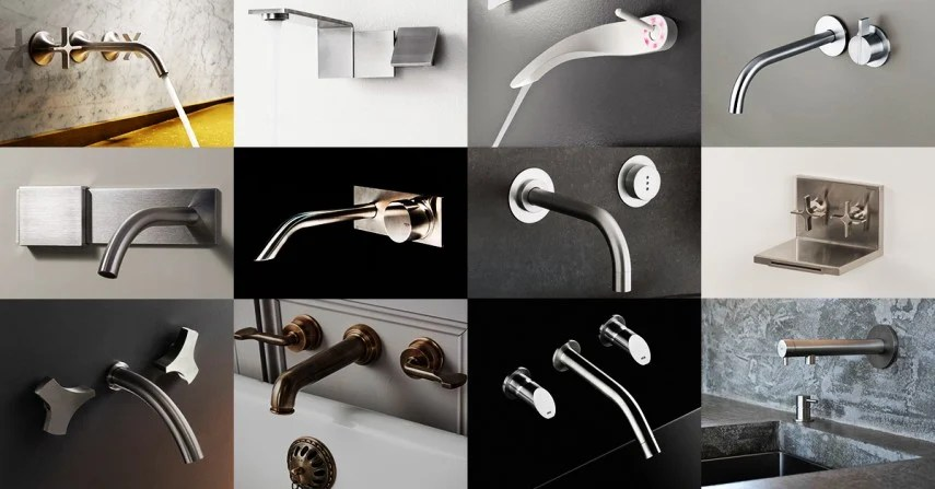 18 modern wall mount faucets to give