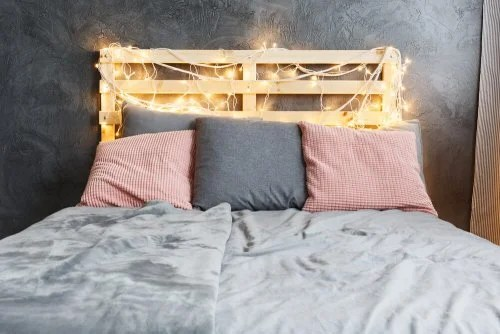 christmas lights for your bed headboard