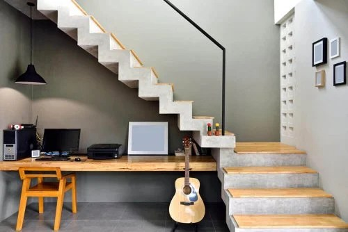 7 Original Ideas On How To Use The Space Under The Stairs Decor Tips