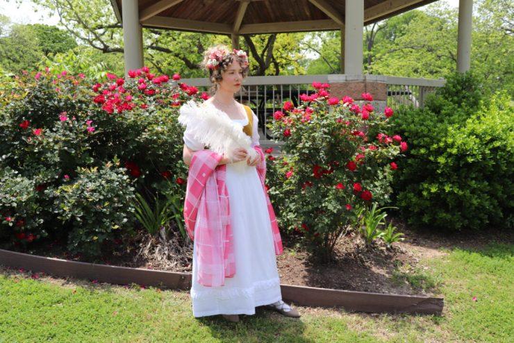 White Regency dress