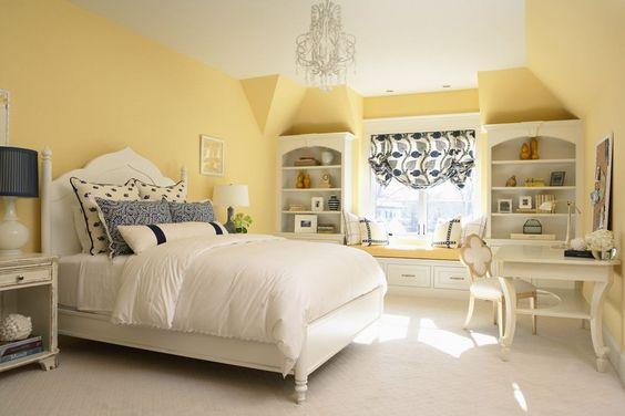 Prettily Blinding Yellow Bedroom Ideas For Fresh Sleeping Spot Decortrendy