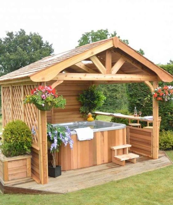 Inspiring Hot Tub Privacy Ideas For Extra Comfort And Protection Decortrendy