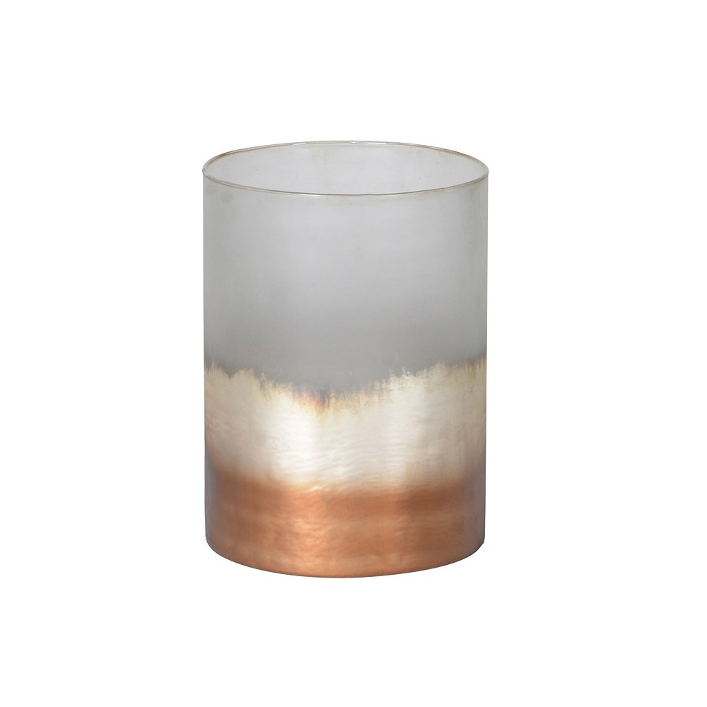 frosty coppper votive holder