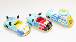 Tomica Tokyo Disney Sea 15th Anniversary - Mickey & Donald Vehicle Set - Full 3pc - 08