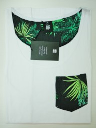 Black with Green Pattern