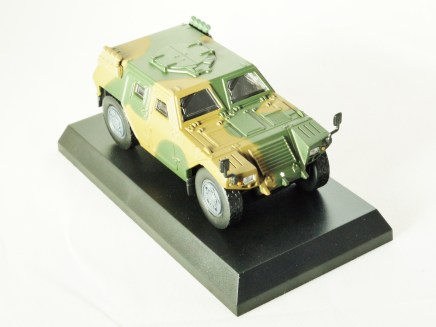 1-64 Kyosho MILITARY VEHICLE Minicar Collection - LIGHT ARMOURED VEHICLE LAV Camouflage Green - 4