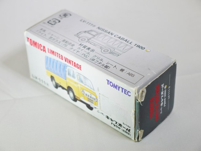 TOMICA LIMITED VINTAGE NEO TOMYTEC - LV-N111a NISSAN CABALL 1900 - YLW & BLE - 09