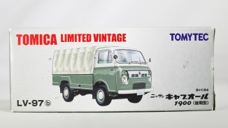 TOMICA LIMITED VINTAGE NEO TOMYTEC - LV-N111b NISSAN CABALL 1900 - DRK GRN & GRY - 07