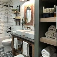 17 Gorgeous Farmhouse Bathroom Vanities Decor Ideas Match With Any Home 37