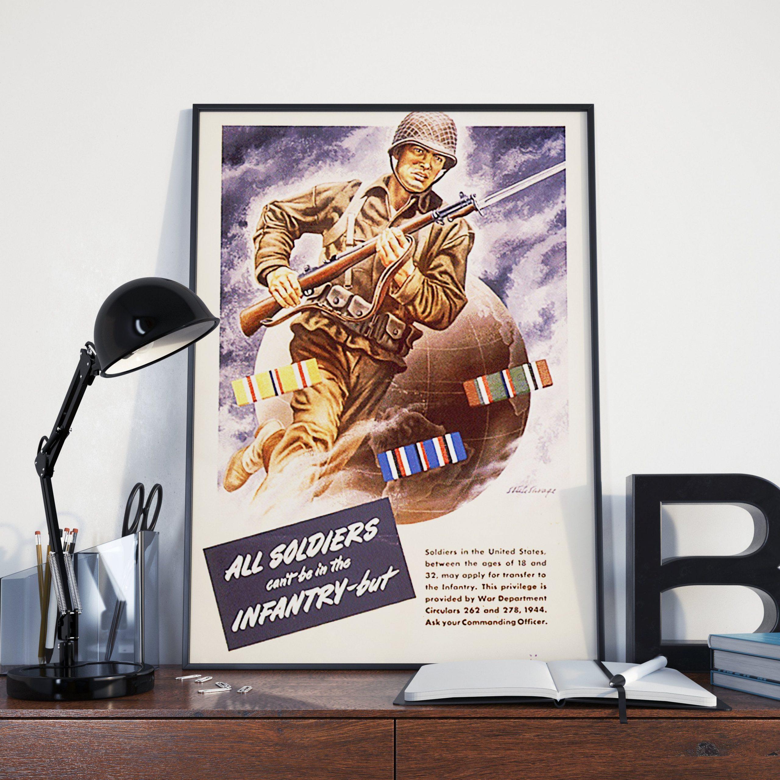 Vintage Ww2 World War 2 Infantry Propaganda World War 2