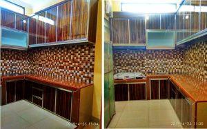 kitchen acp motif serat kayu