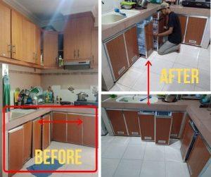 kitchen set aluminium jakarta
