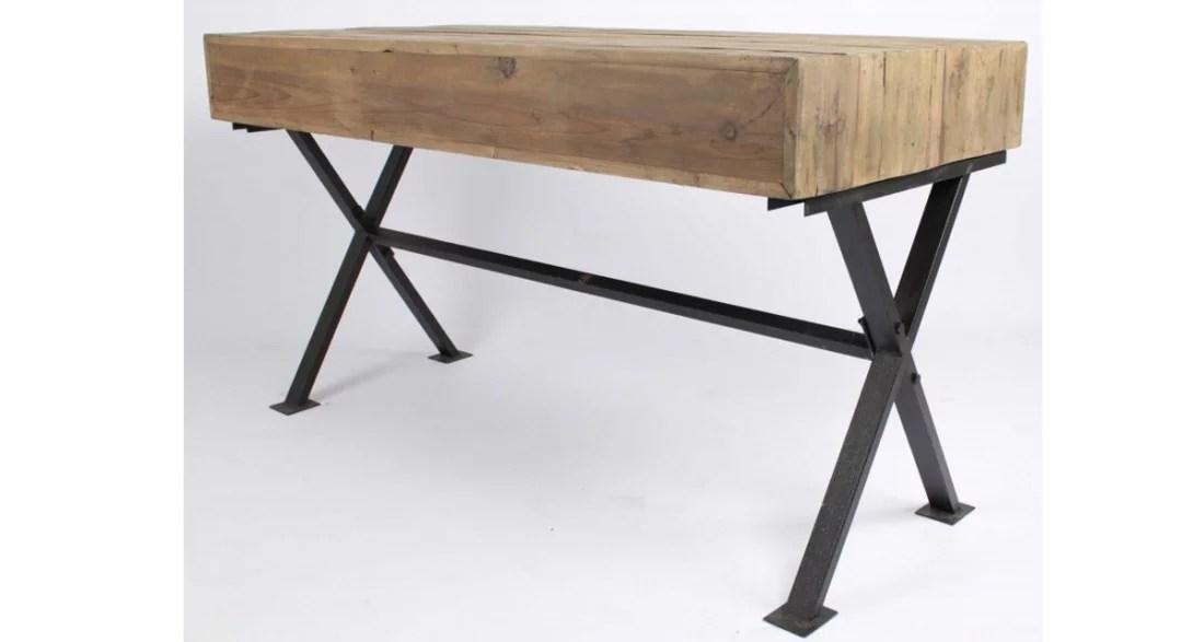 Bureau fer et bois bureau ordinateur bois bureau fer et bois bureau