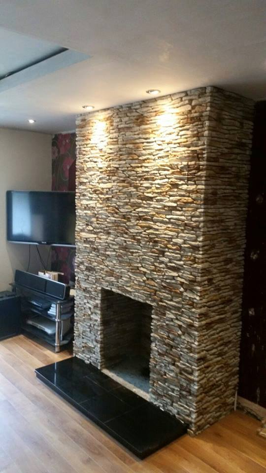 Stone Fireplace Materials Fireplace, Chimney Breast Transformation - Deco Stones