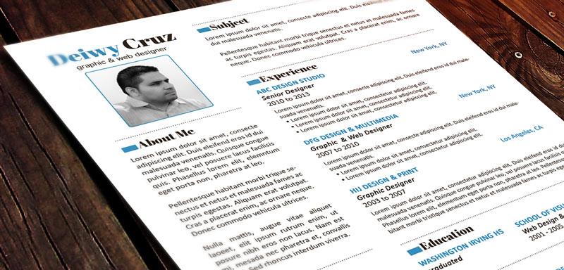 FREE Premium Creative Resume Template • Decruz Design