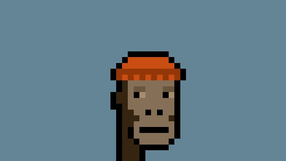 Just an ape wearing a knitted cap