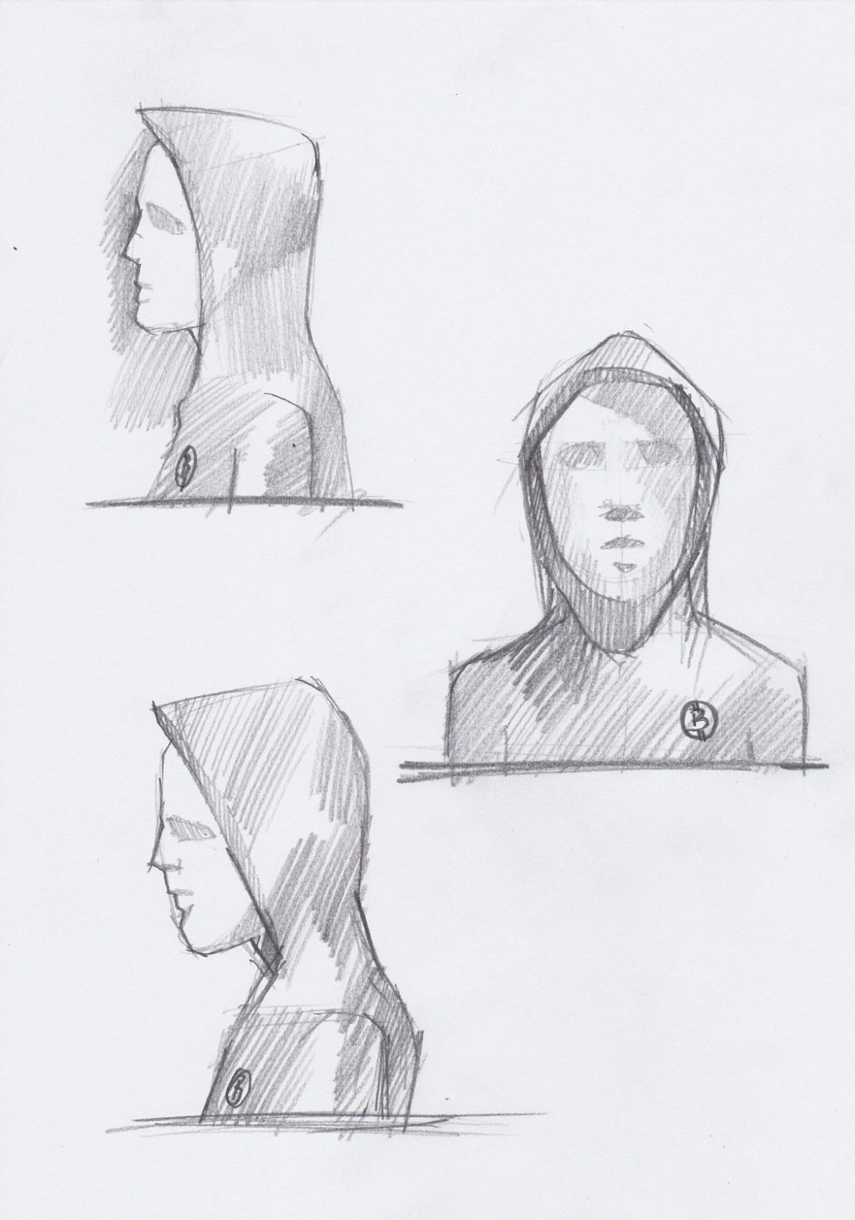 Satoshi Nakamoto statue illustration