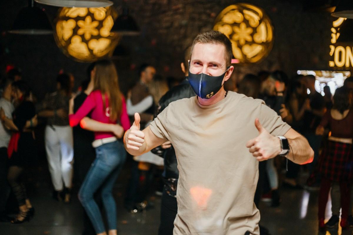 Kharkiv, masked dancers